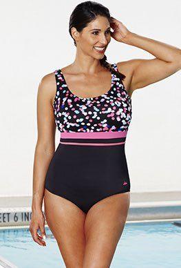 9c19e1f3a7 Chlorine Resistant - Aquabelle Dots Empire Swimsuit   Chlorine ...