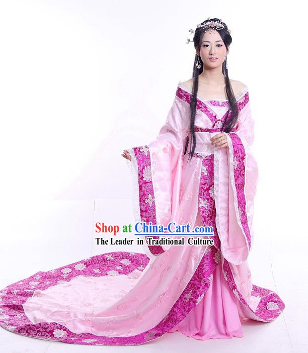 713d624f9 Chinese Traditional Long Tail Wedding Dress Complete Set | Pretty ...