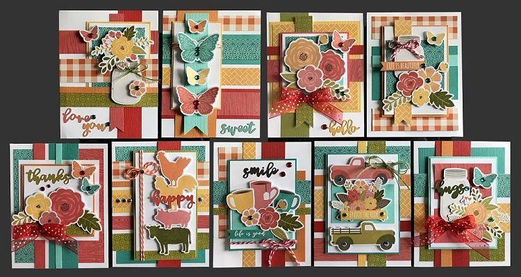 Farmhouse Fun Card Kit Kim S Card Kits Handmade Card Making