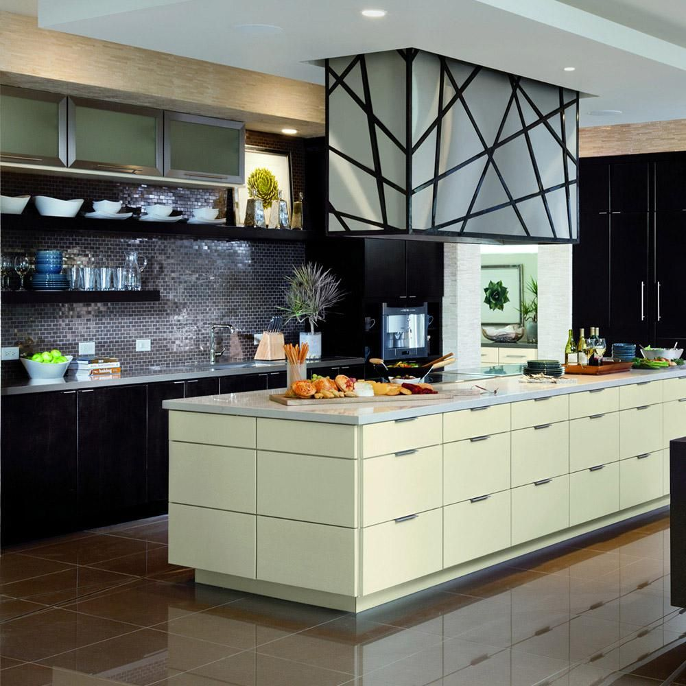 American Woodmark Custom Kitchen Cabinets Shown in Modern ...