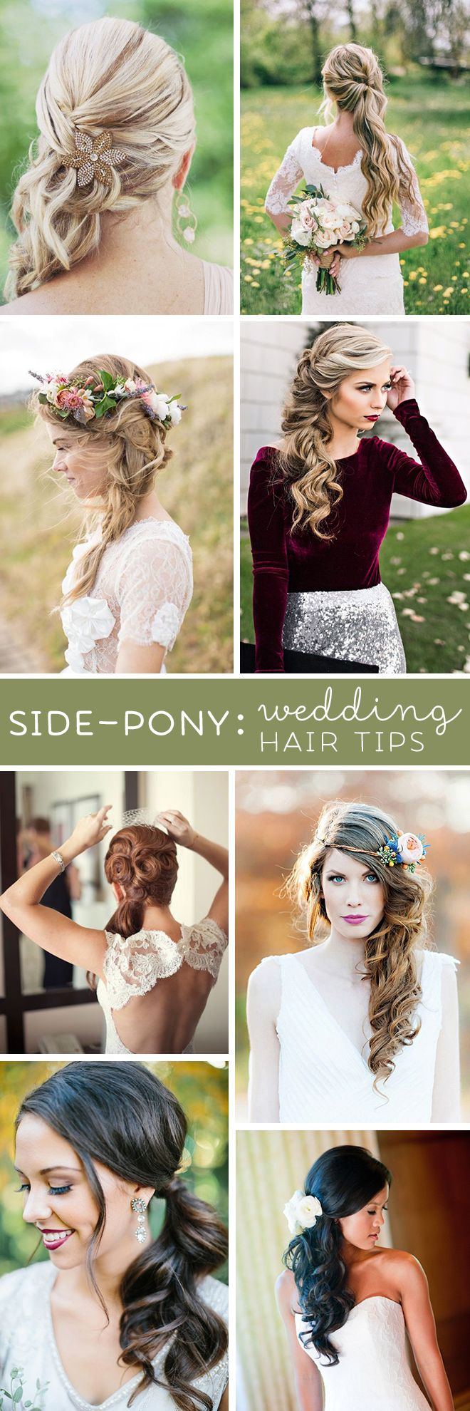These are the absolute BEST wedding hair tips for wearing a side ponytail style!