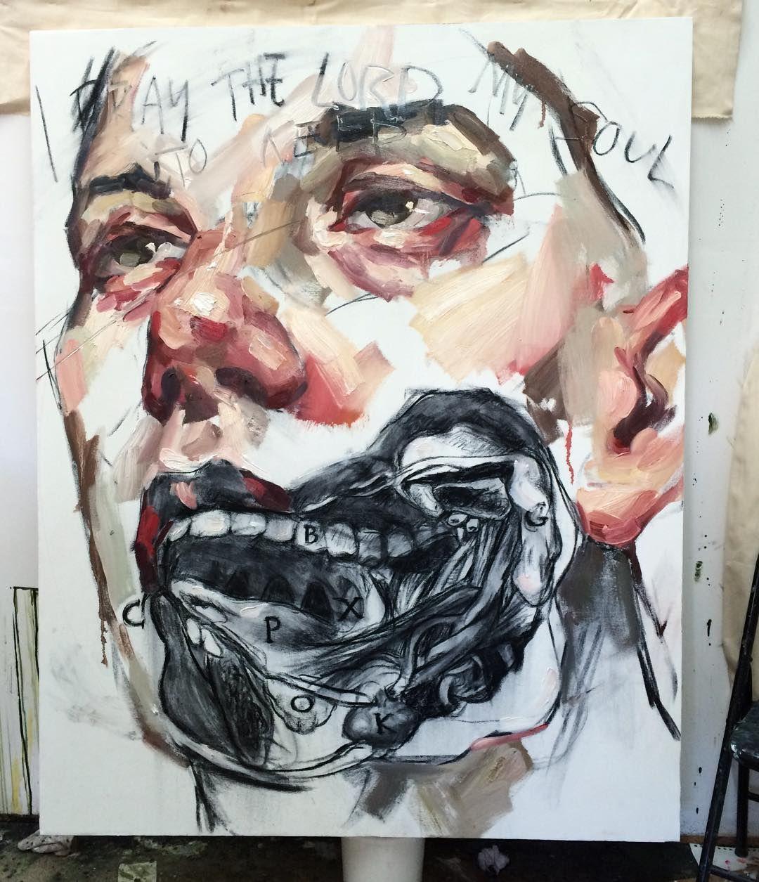 New 5ftx4ft piece, oil. Based on an illustration in my anatomy book, Traité D'Anatomie Topographique, ou Anatomie Des Régions du Corps Humain