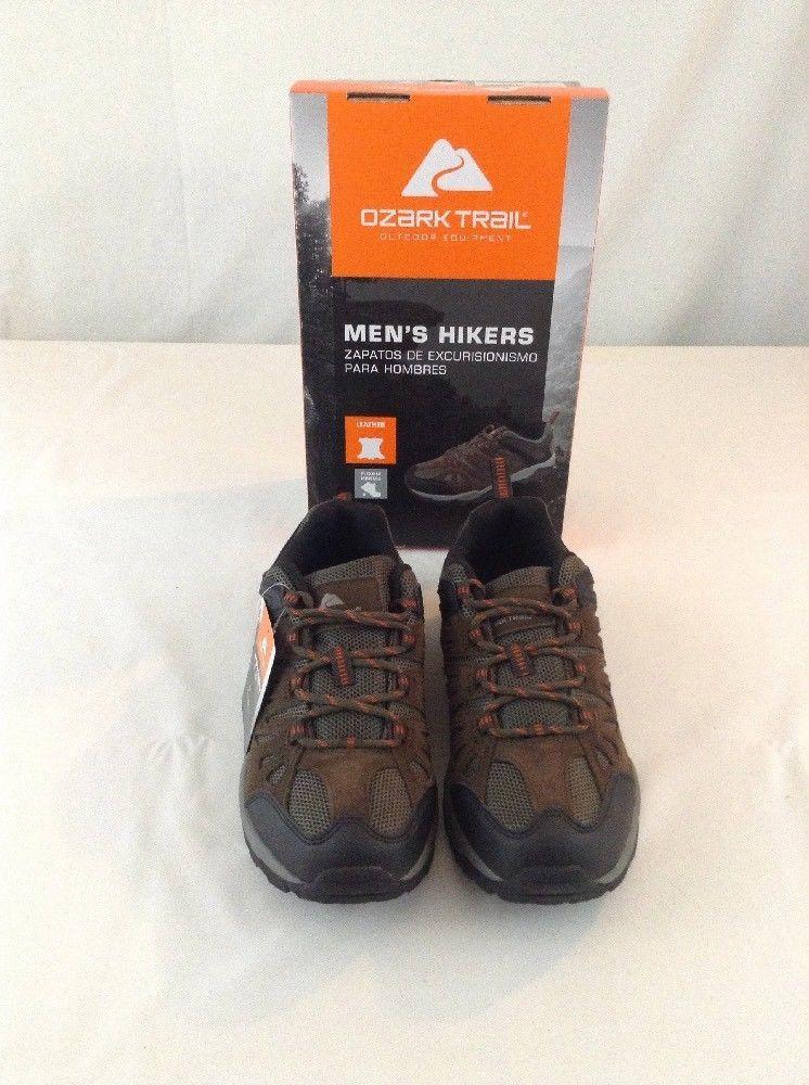 1932d7396013 New Men s Ozark Trail Low Profile Brown Hiking Everyday Shoe Size 8 1 2   OzarkTrail  Trail