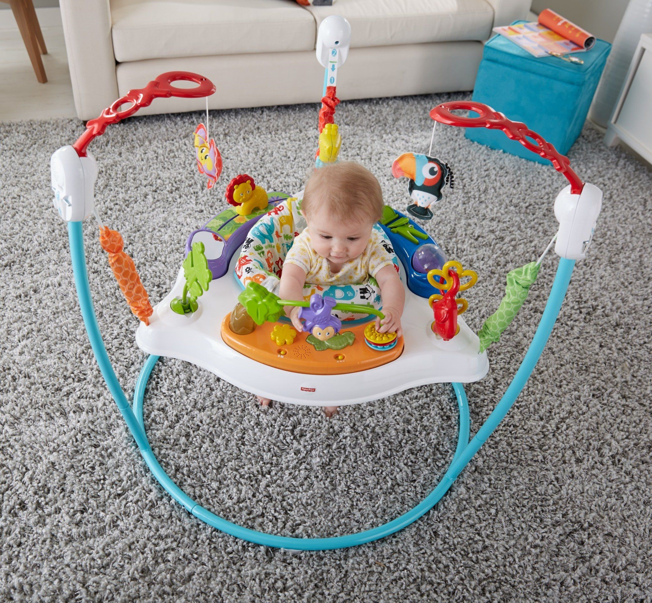 Fisherprice Animal Activity Jumperoo Blue Read More Reviews Of The Product By Visiting The Link On The Image This Is An Affiliate L Animal Activities Fisher Animal Infant Activities