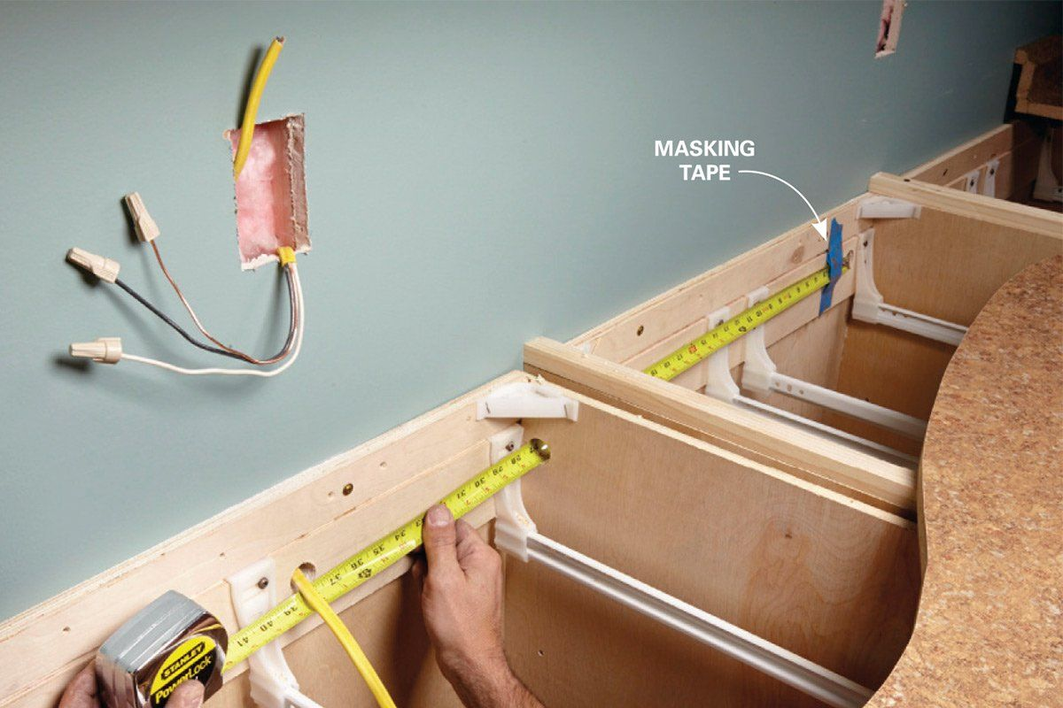 how to install electrical outlets in the kitchen the family handyman [ 1200 x 800 Pixel ]