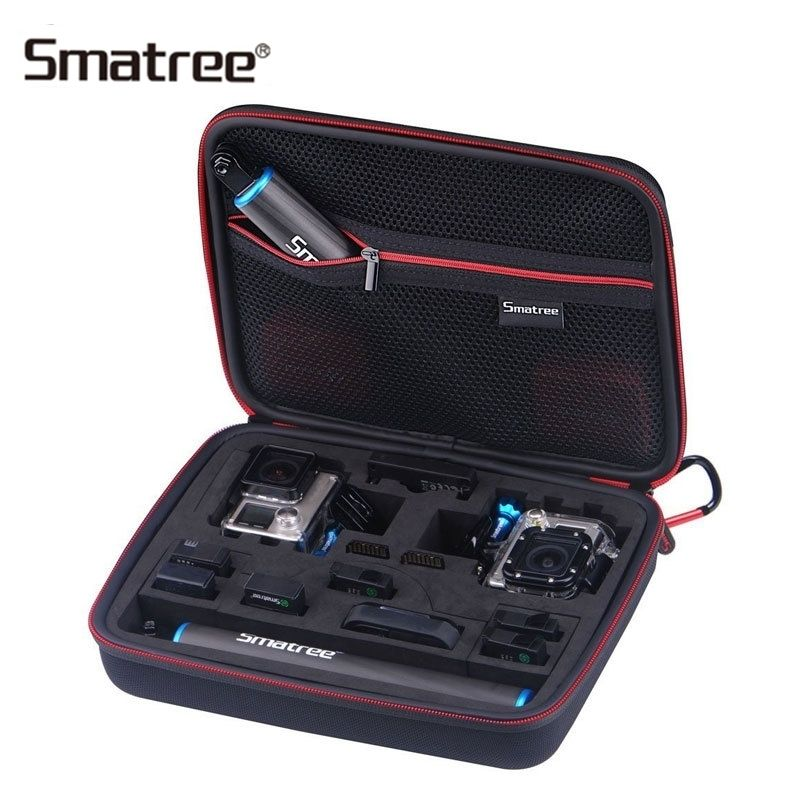 Best Price Smatree Carrying Case For Gopro Hero 7 6 5 4 3 3 2 1 Sjcam Sj4000 Xiaomi Yi G260sl 2 Go Camera Accessories Bags Gopro Case Gopro Hero
