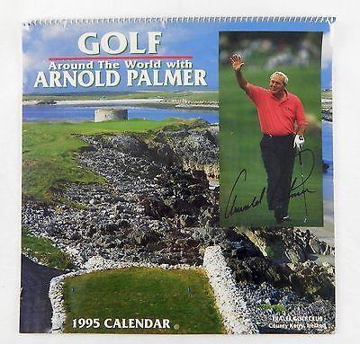 Vintage 1995 2017 Golf Around The World with Arnold Palmer Calendar