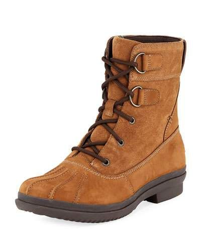 7c21218075b UGG AZARIA SUEDE DUCK BOOT, BROWN. #ugg #shoes # | Ugg | Duck boots ...
