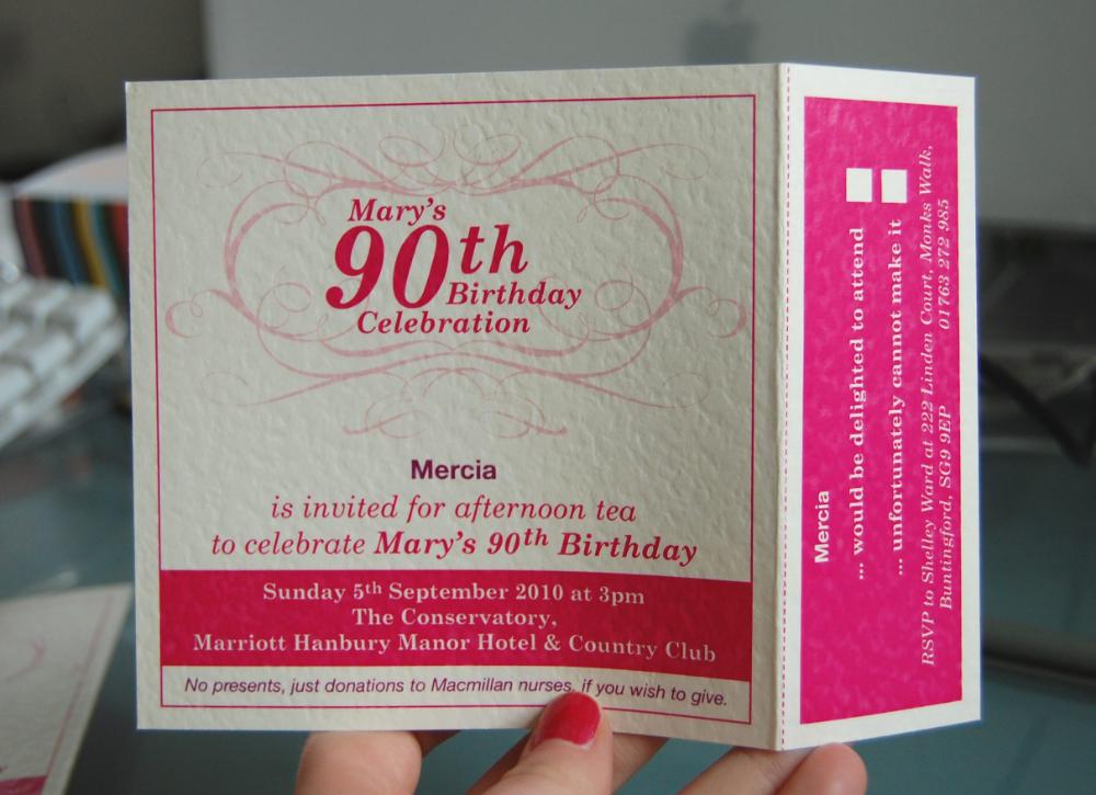 einladung geburtstag : einladungskarten 90 geburtstag