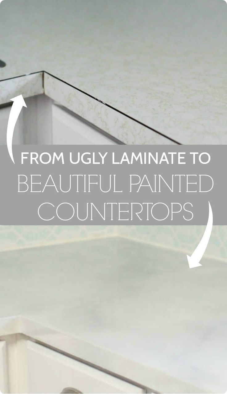 Painted Countertops: Painting Your Countertops to Look Like Marble ...