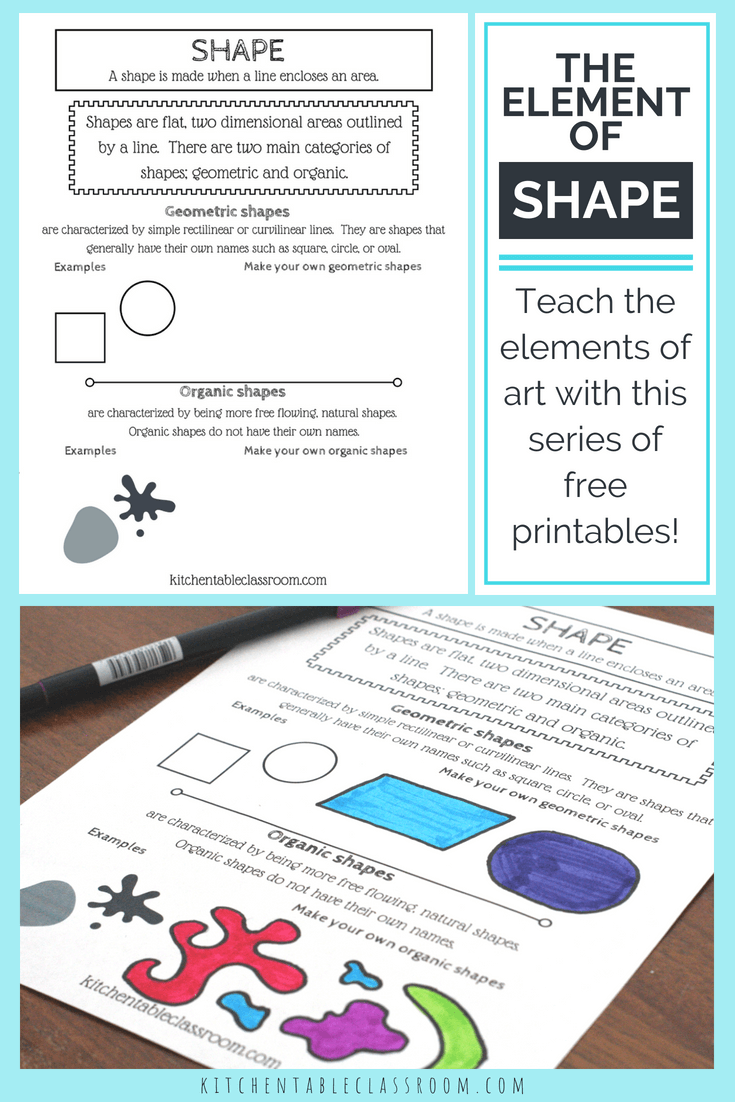 types of shapes in art- the element of shape with a printable | art