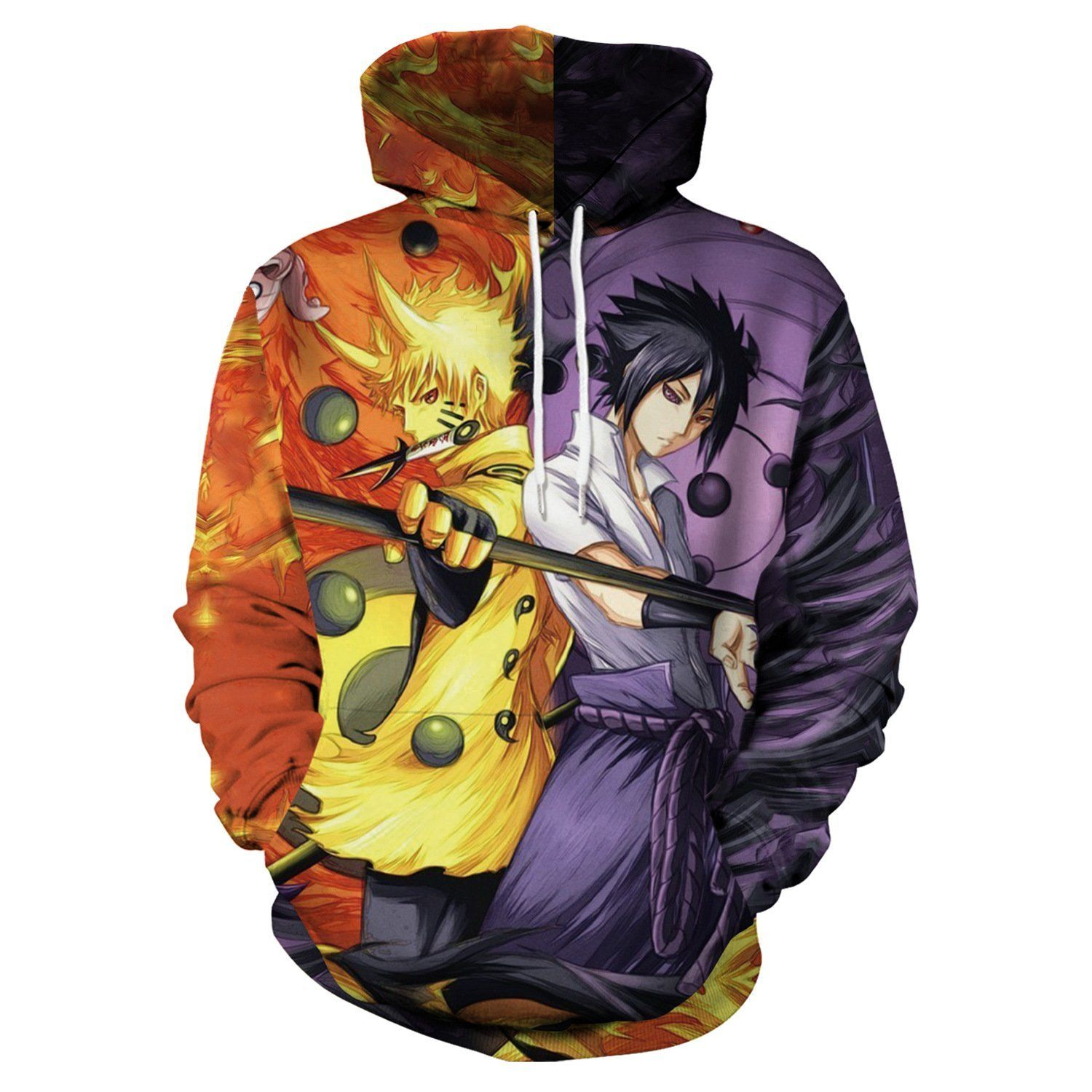 only beautiful Men Women Anime Naruto 3D Print Pullover Hoodie Long Sleeve Cosplay Sweatshirt with Pocket