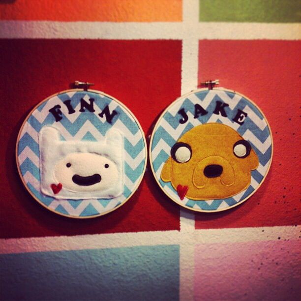 Adventure time hoops I made a while back. Finn and jake by cotton cannibals