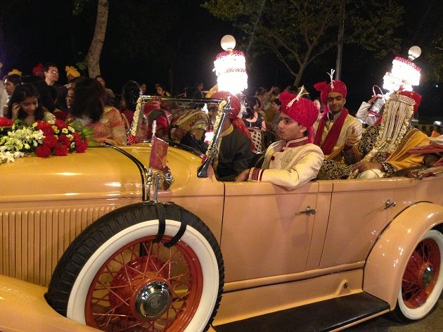 Indian Wedding - What do you think of the idea to interchange traditional wedding ghodi with a 1931 Chrysler CM6 vintage car?