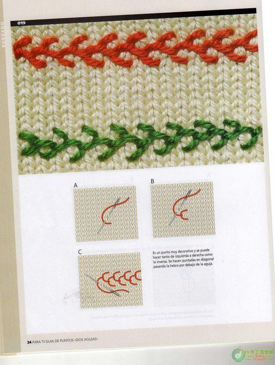 Guia de Puntos Bordados en Tejido Crochet | bordado | Pinterest ...