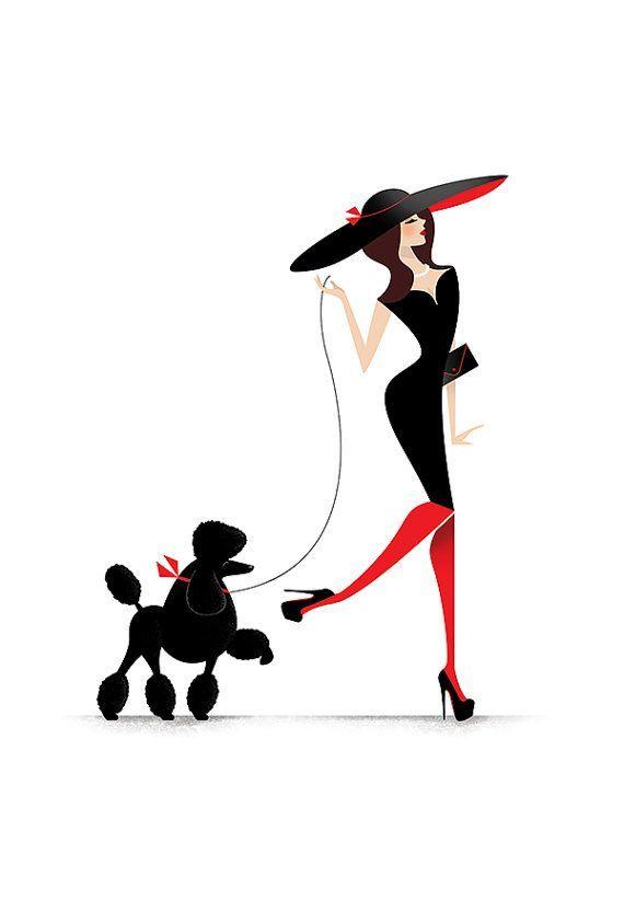 Madame Poodle Illustration Print