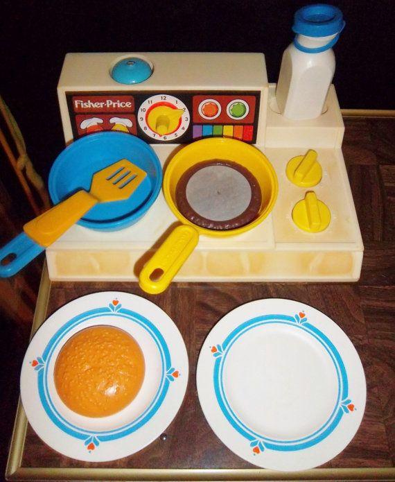 Kitchen Set Toys Price: Vintage Fisher Price FUN WITH FOOD Toys