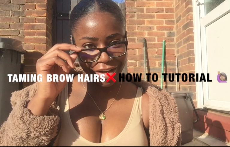 Taming Brow Hairs (without make-up) - How To Tutorial ...