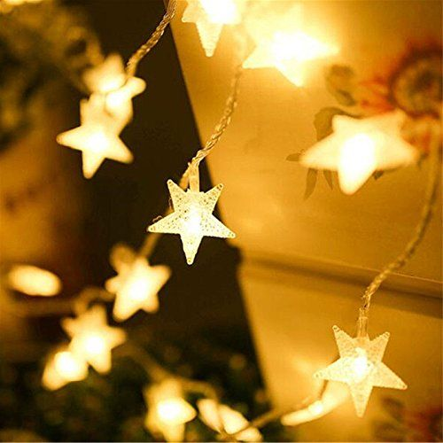 Indoor Party Star LED String Lights Battery Powered 16 Feet 40 LED