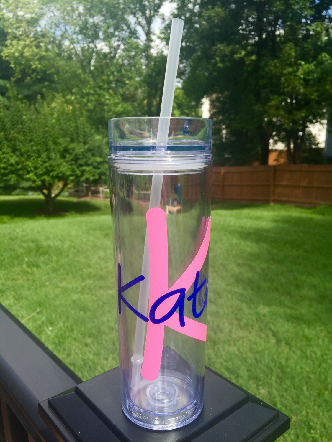 PERSONALIZED WATER BOTTLE - 16oz personalized with initial & name. Sip in…