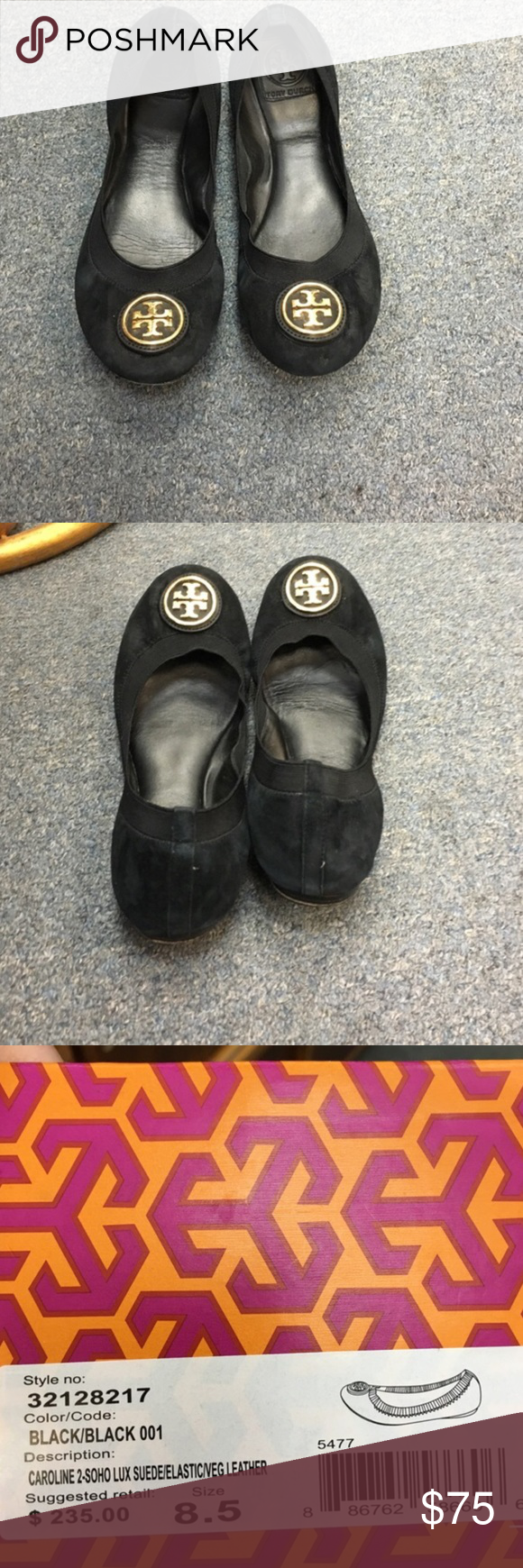 Tory Burch Caroline Flats This is a re-posh. I found a pair of black snake pattern Caroline's that I like much better. Just trying to recoup some of my money. Please ask questions. Tory Burch Shoes Flats & Loafers
