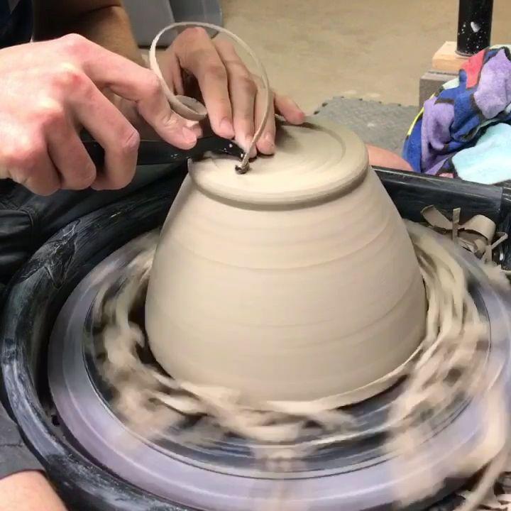 Trimming ceramic bowl - RD Ceramics