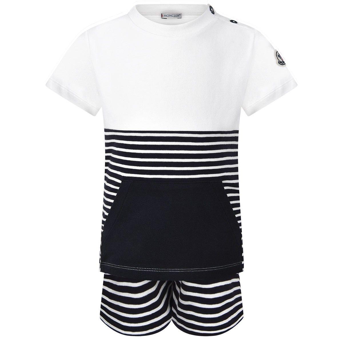 83a0c2539722 Moncler Baby Boys Navy Top   Shorts Set