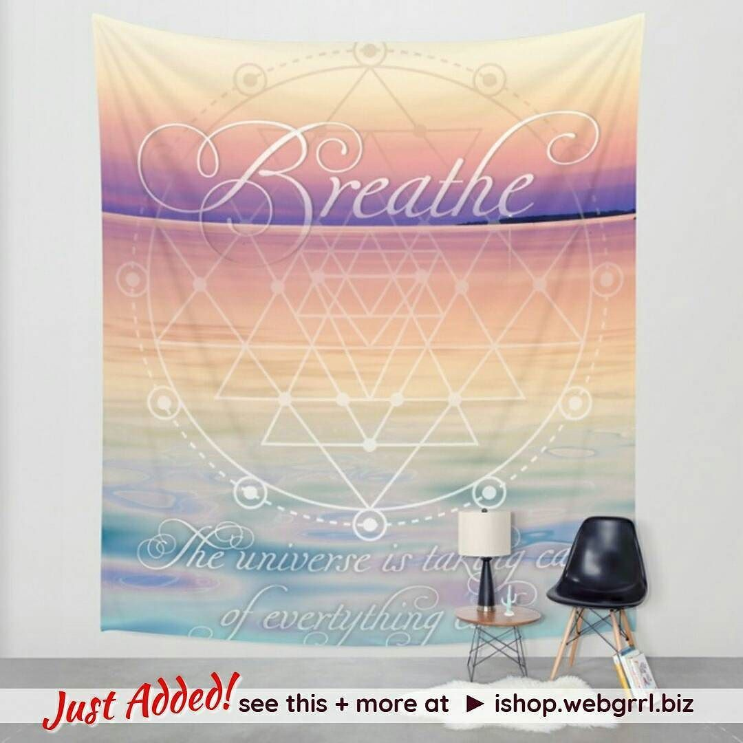 Just Added! #Breathe Wall Tapestry / Fabric Banner / Mindful reminders . . Drop by and see what's New designs or older designs on new products  to my shop site #ishopwebgrrlbiz . .  see this  more at  ishop.webgrrl.biz . . . #wallhangings #walltapestry #breathe #mindfulness #yogalife #yoga #dailyreminders #universe #meditation #affirmation #quotes #homedecor #fabricbanner #bannerart #mydesigns#mydesigns