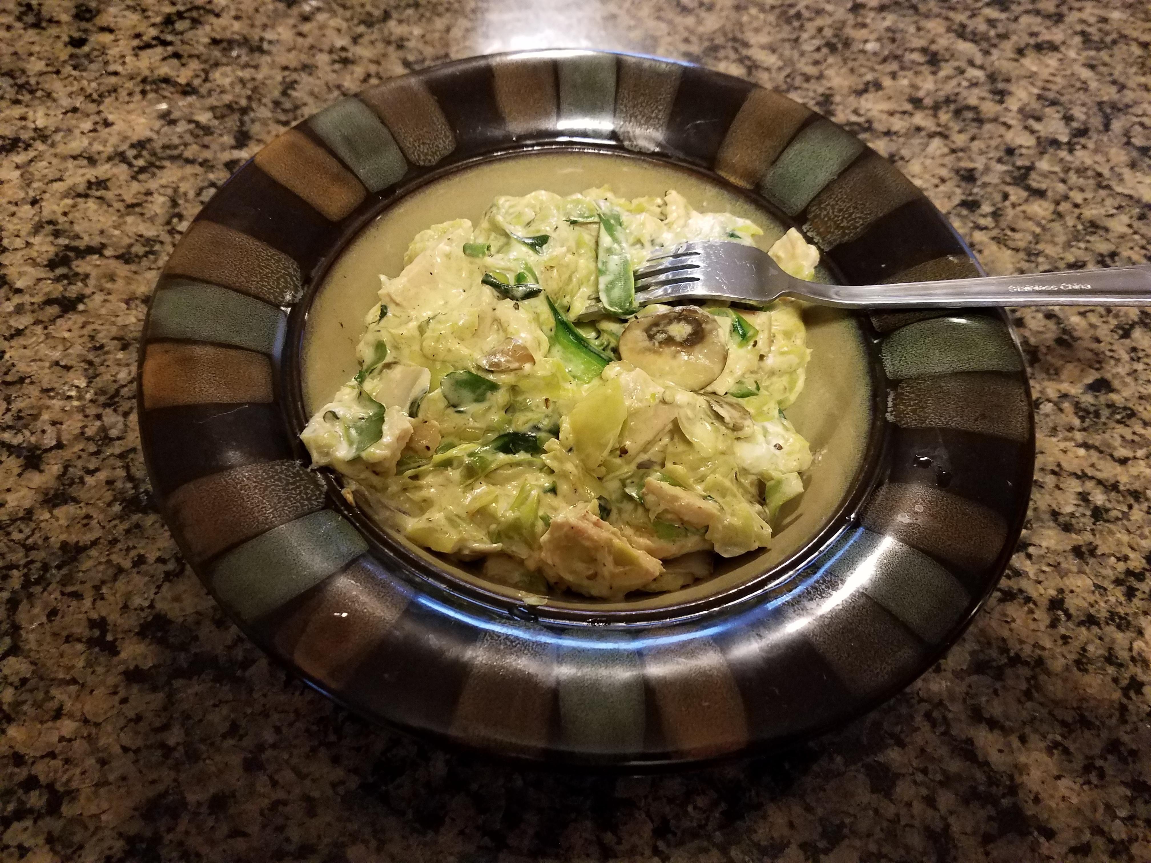 Tuna zoodle casserole (20 minutes)