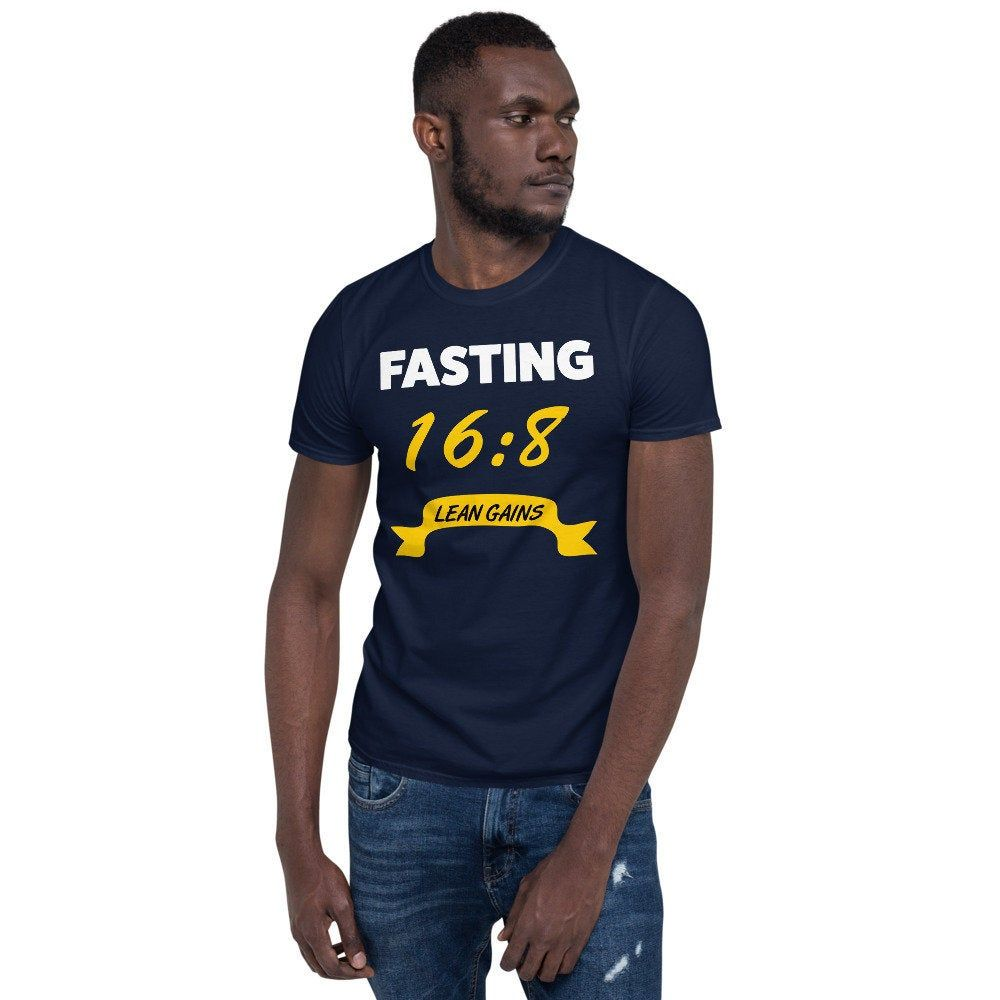 Intermittent Fasting 16 8 Lean Gains Fitness Diet Health Short Sleeve T Shirt In 2020 T Shirt Shirts Sleeves