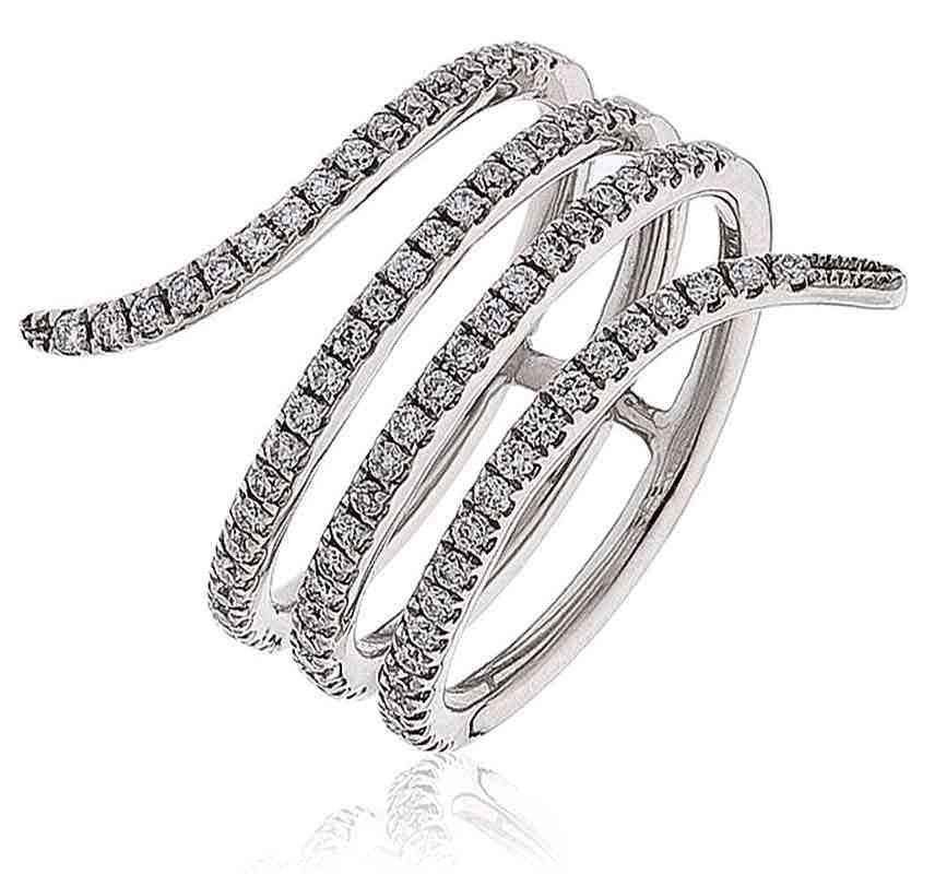Wrap Around Wedding Rings Rings Rose Gold Diamond