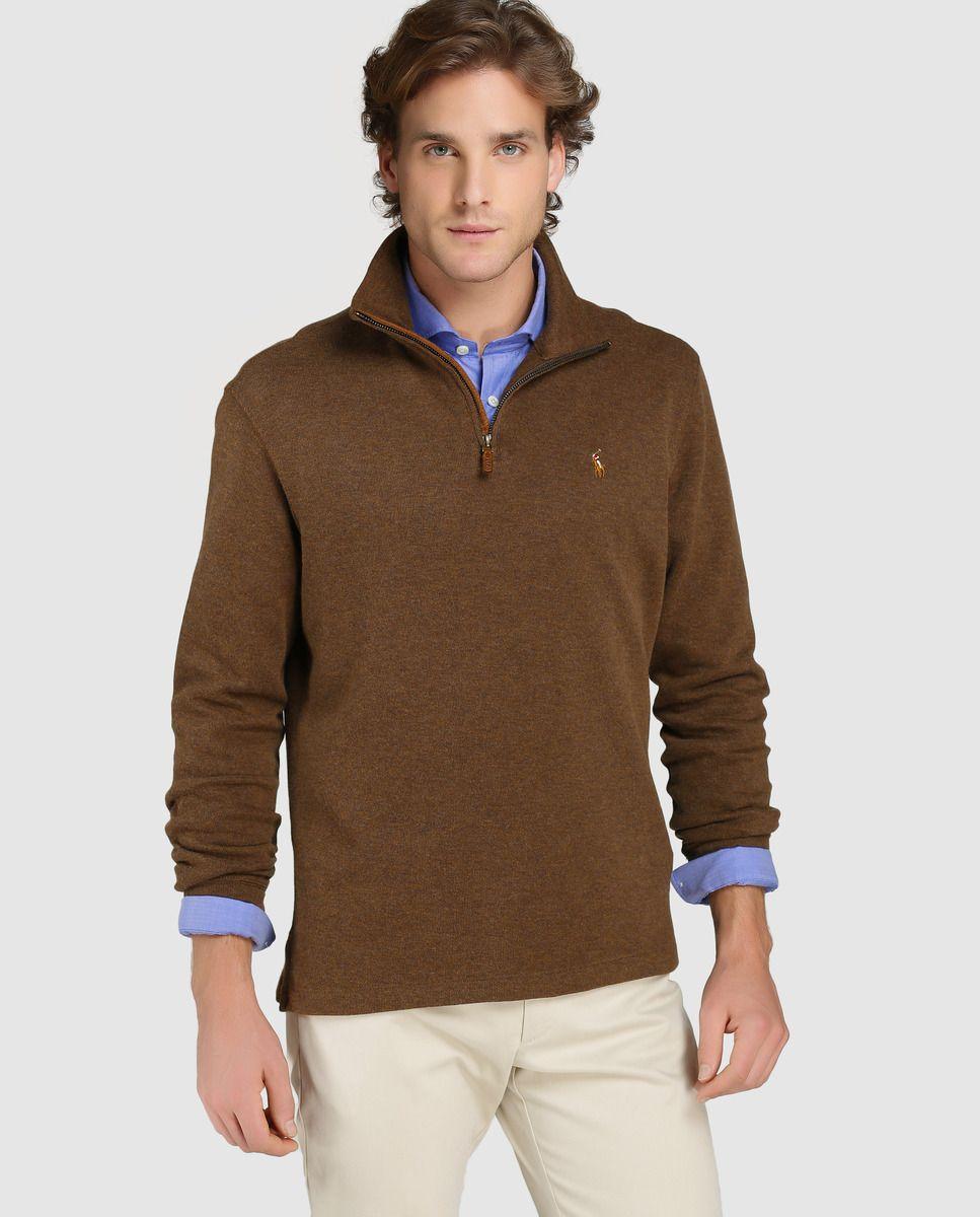 Jersey de hombre Polo Ralph Lauren marrón con el cuello alto · Polo Ralph  Lauren · Moda · El Corte Inglés 4bb46ee3c4
