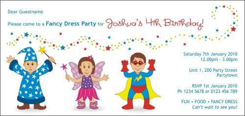 fancy dress birthday party invitation fancy dress in 2018
