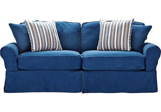 Beautiful Cindy Crawford Denim Sofa 1