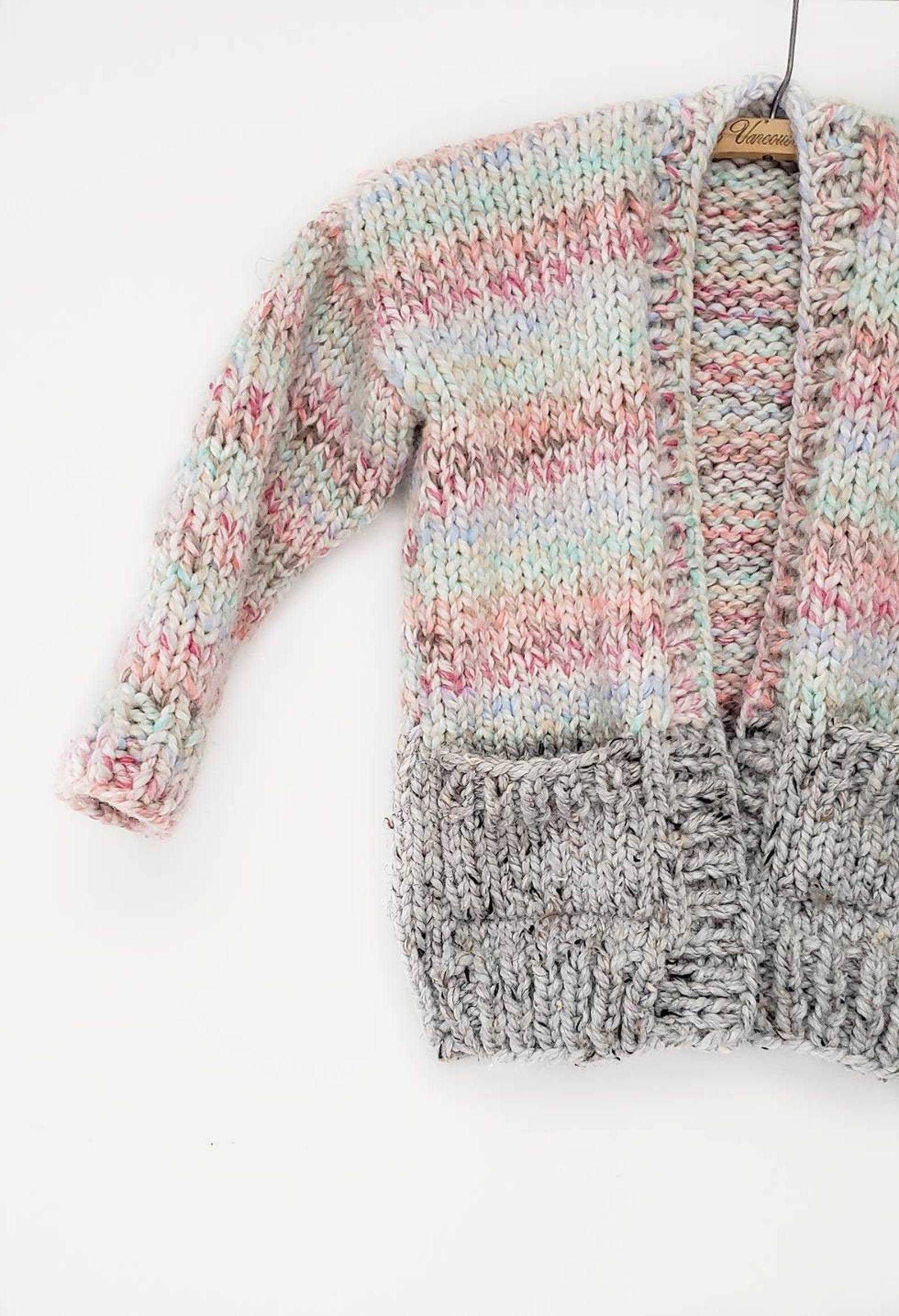 Photo of Colorblock Cardi Mini // Beginner Cardigan Pattern // Sweater Pattern // Kids Knit Sweater Pattern // Child Cardigan Pattern