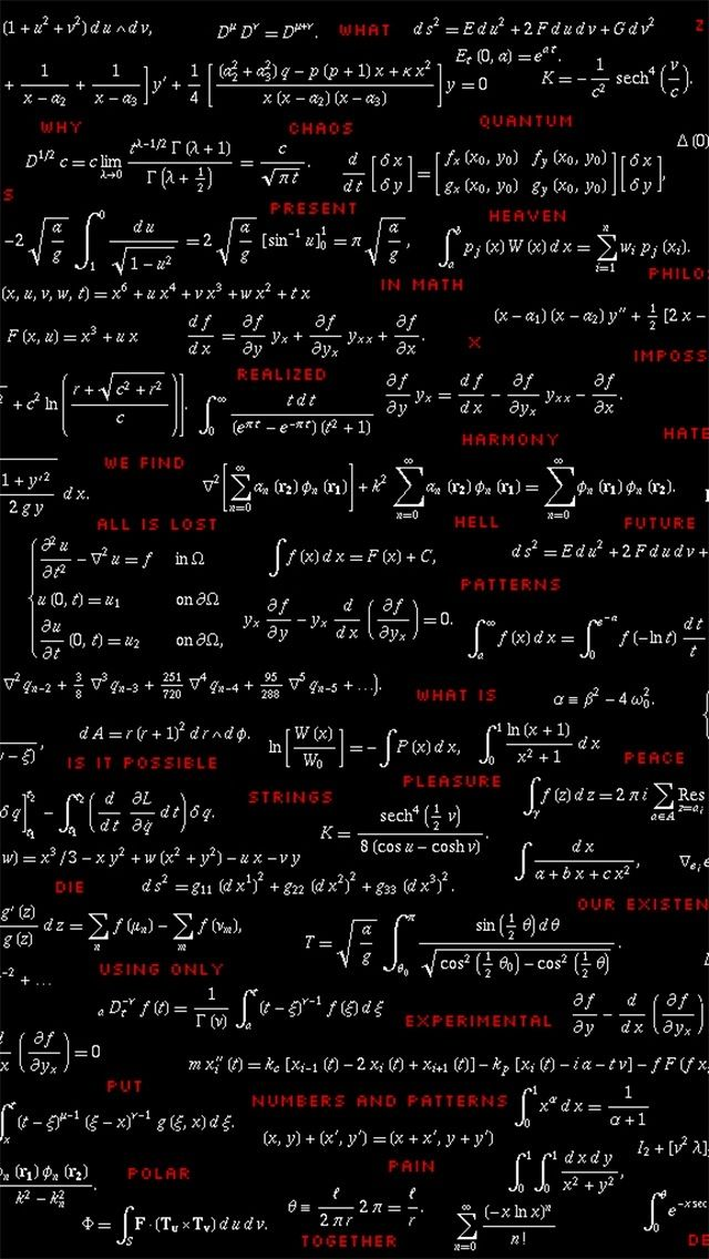 Math And Physics Formulas Looking Cool Physics Math Wallpaper