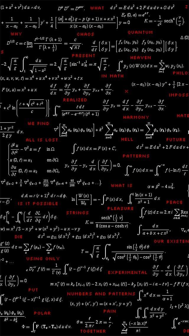 Math and physics formulas looking cool