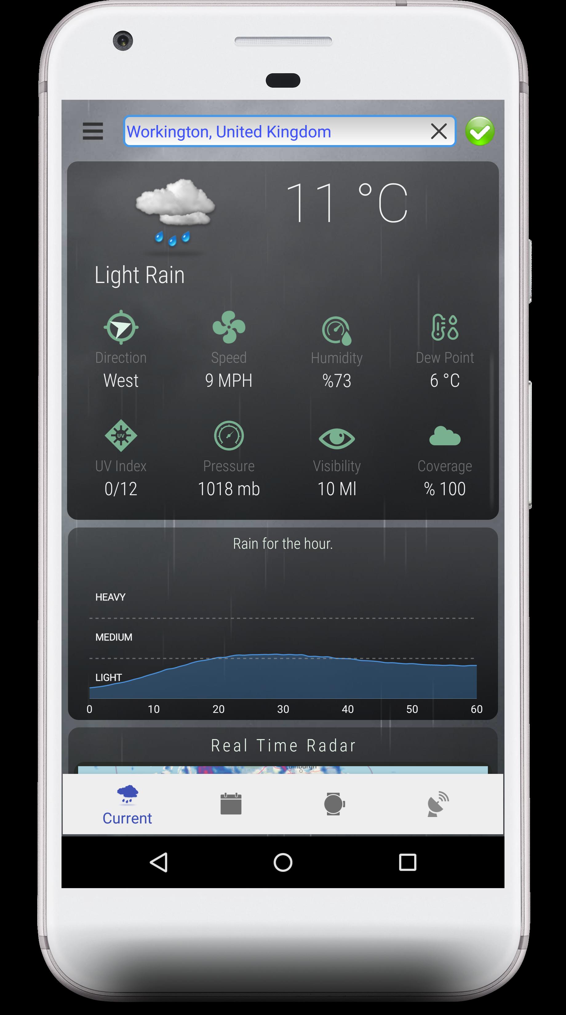 Android Weather App panosundaki Pin