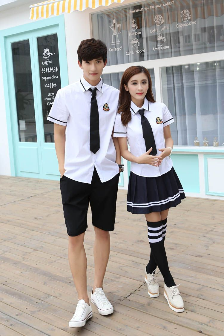 6211d800e Korean school uniforms white Shirt + Skirt For Student Girls Shirt + Pants japanese  school uniform for boys cosplay costume(China (Mainland))
