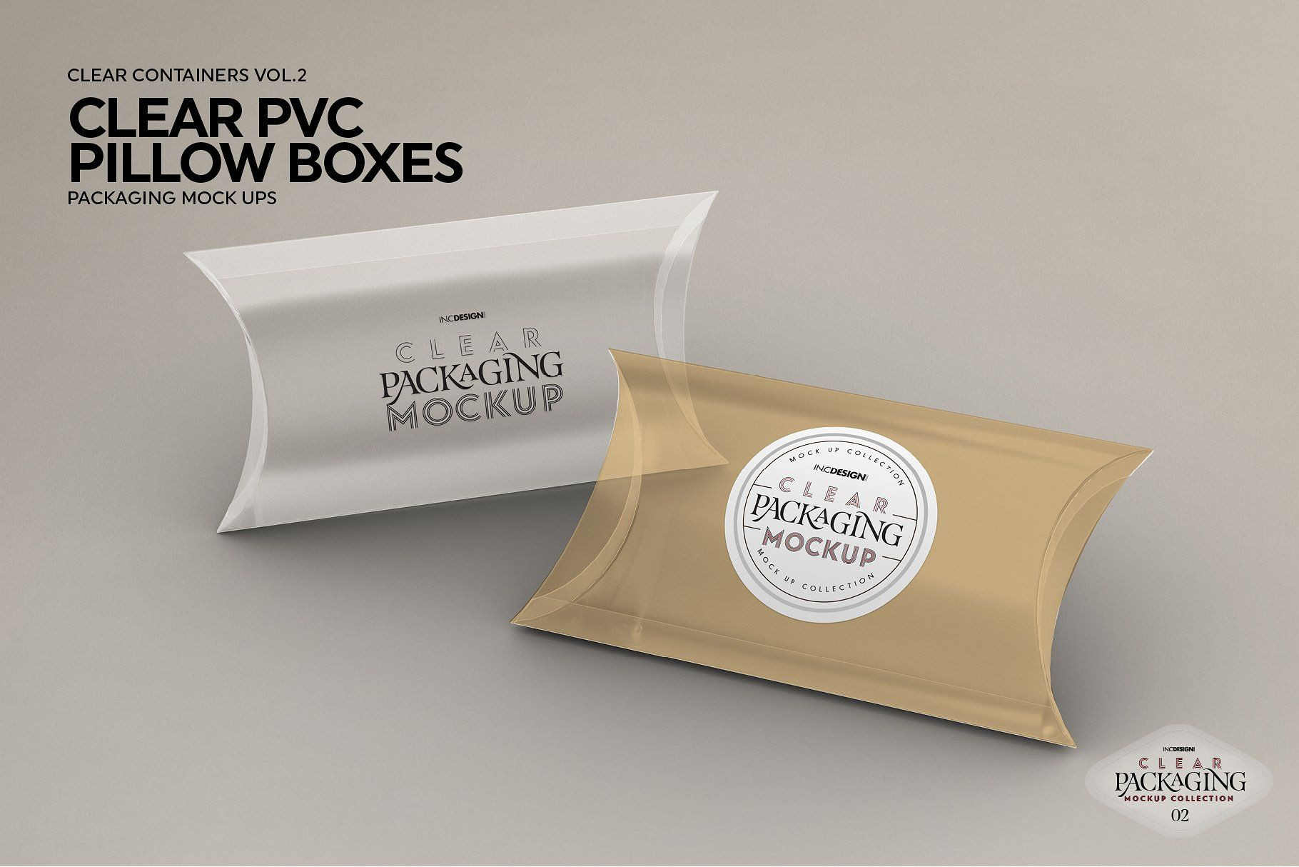 Clear Pillow Boxes Packaging Mockup Packaging Mockup Pillow Box Box Packaging