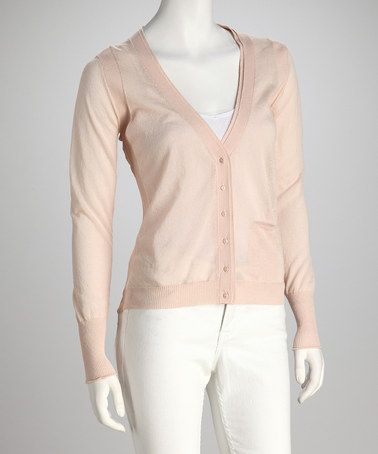 Take a look at this Nude Sheer-Back Cardigan by Zero Degrees ...