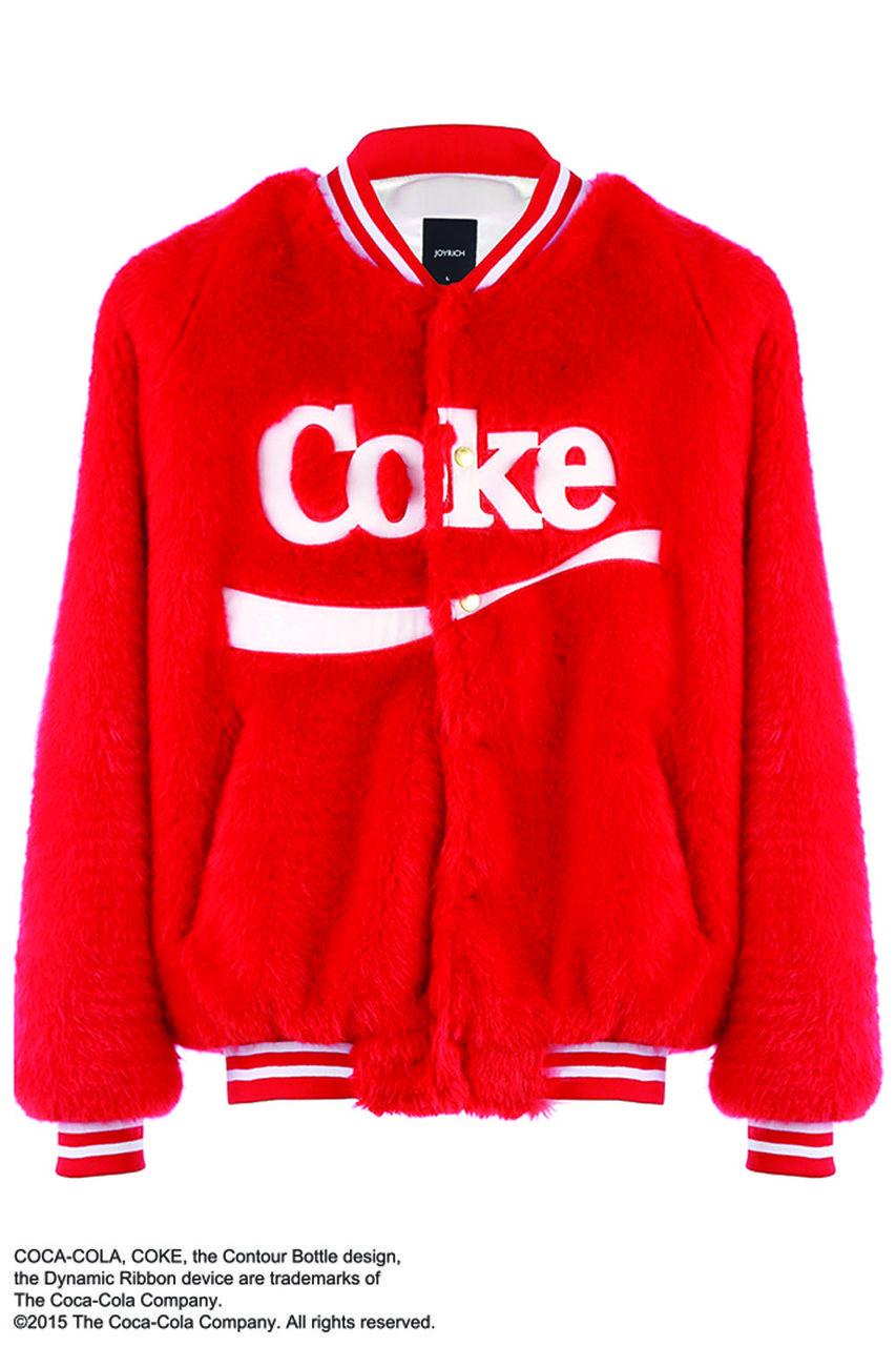 Coke Fur Varsity Jacket Red Joyrich Store Clothes Pinterest Badly Drawn Tshirt Short Circuit Mens Buy Online At Grindstore