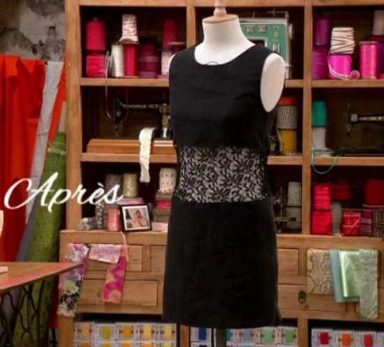 Customiser une robe bustier noire