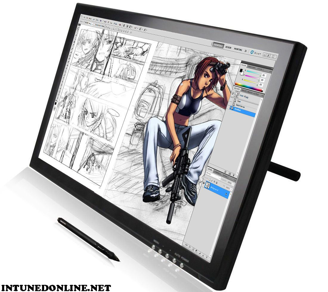 drawing on pen tablet monitor gets rid of shaky lines in your line