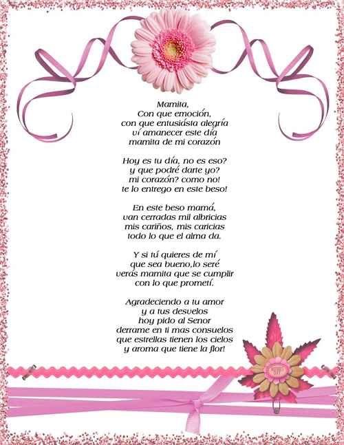 Poemas Bonitas Cartas Para El Dia De La Madre Tarjetas Para El Dia De La Madre Buscar Con Google Poemas Para