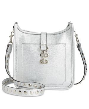 Steve Madden Wylie Small Messenger - Silver Mini Messenger Bag 12d41d785a9b1