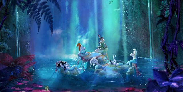 Mermaid Lagoon Is A Location On The Mystical Island Of Neverland It Appeared In Disneys 1953 Classic Animated Film Peter Pan Which Based Upon JM