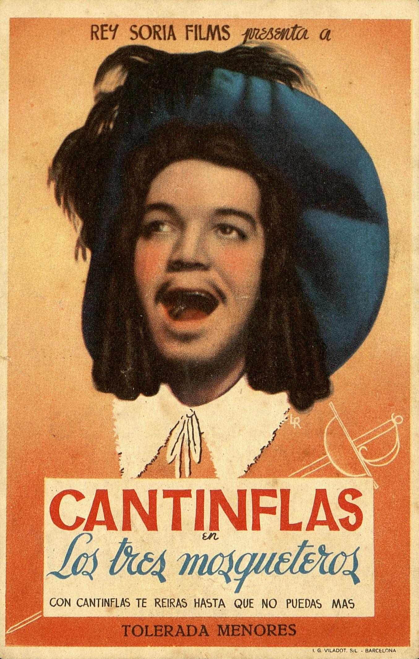 296 Cantinflas En Tres Mosqueteros Dirigida Por Miguel M Delgado Barcelona I G Viladot 1946 Cantinflas Peliculas Del Cine Mexicano Programa De Cine