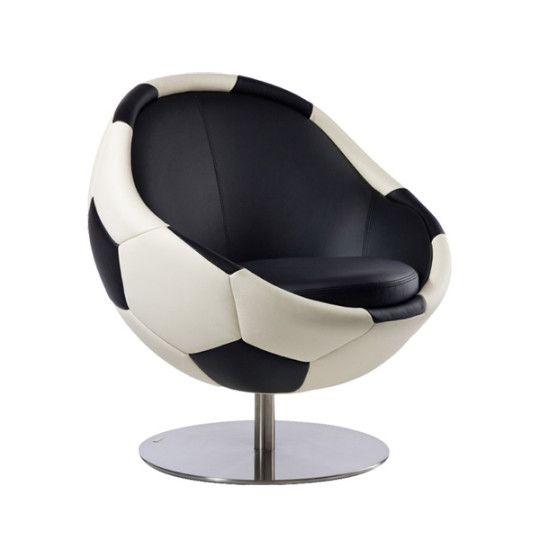 Charmant Image Of Leather Soccer Ball Chair