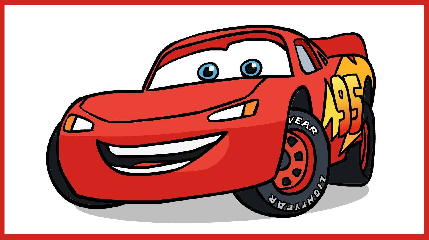 How To Draw Lightning Mcqueen Cars Disney Pixar With Images